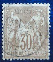 France oblitéré, n°69, 30c brun clair, Sage type 1, 1876