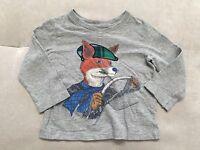 Baby Boy Gap Long Sleeve Shirt Size 18-24 Month Cotton Mr Fox  Super Cutie