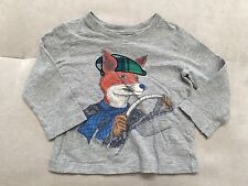 Baby Boy Gap Long Sleeve Shirt Size 18-24 Month Cotton Mr Fox  Super Cutie