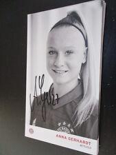 67924 Anna Gerhardt FC Bayern München Damen original signierte Autogrammkarte
