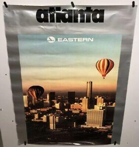 Original vintage travel Airline poster Atlanta Eastern Airlines 30x40