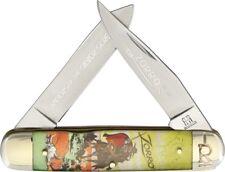 Rough Rider Moose Zorro Pocket Knife Stainless Steel Blade Acrylic Handle 1835