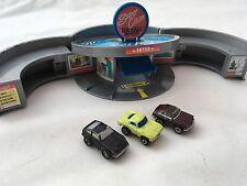 Micro Machines Fold-Out Car Wax Tin Detail Shop Play Set Rare Retro 90's