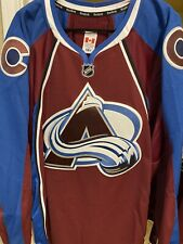 COLORADO AVALANCHE AUTHENTIC TEAM ISSUED REEBOK EDGE 7287 JERSEY SIZE 58+