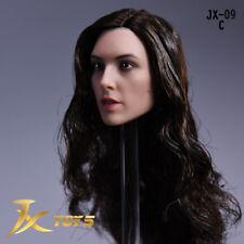 JXtoys 1/6 Wonder Woman Gal Gadot JX-09C Head W Curl Hair Fit 12'' Female Figure