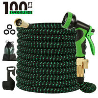100FT Expandable Garden Hose, Flexible Lightweight Water Hose with 9 Functions