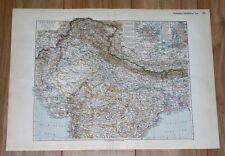 1936 ORIGINAL VINTAGE MAP OF NORTHERN BRITISH INDIA PUNJAB KASHMIR NEPAL