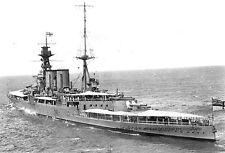 ROYAL NAVY BATTLECRUISER HMS HOOD OFF HAWAII - 12 JUNE 1924 - EMPIRE CRUISE