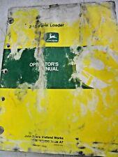 Operators Manual Om-W38890 Original John Deere For 245 Farm Loader