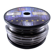 Stinger SHW10G Audio Power Wire 1/0 Gauge Cable 50 ft Spool Roll Matte Gray