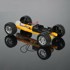 Yellow 16*9cm Electric Car Model Kits Diy Hobby Robotic Toy Model Learning