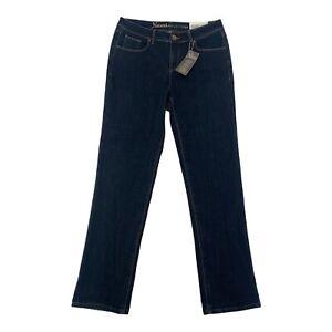Natural Reflections Womens Fleece Lined Dark Wash Stretch Denim Jeans Blue Sz 6
