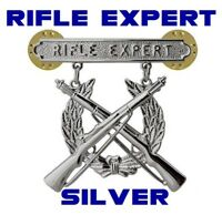 USMC US MARINE CORPS RIFLE QUALIFICATION EXPERT SHOOTING BADGE PIN