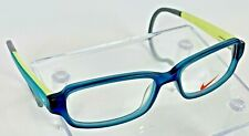 Nike Glasses Frames Childs Unisex Toddler Gray Green Sports Wrap Around Temples