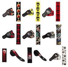 Metal Rock Gothic Skull Various Colours & Patterns Guitar Strap