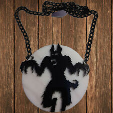 Kreepsville666 Howling At The Moon Acrylic Necklace. Werewolf. Halloween. Lycan.