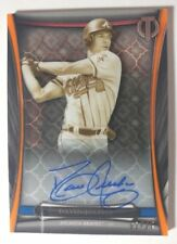 2018 TRIBUTE ICONIC PERSPECTIVES ORANGE AUTO DAVID JUSTICE 01/25 BRAVES (M)