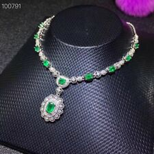 Natural Emerald Necklace, Emerald Pendant, Emerald Jewelry, Emerald Jewellery