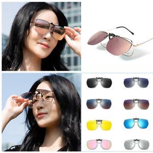 Unisex Clip on Sunglasses Polarized Flip up Glasses Clip Spectacles Anti Glare U