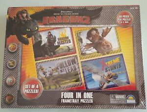 DreamWorks How To Train Your Dragon 2 Four in One Frametray Jigsaw Puzzles