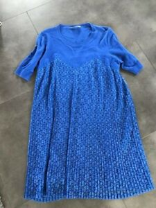 belle robe, SANDRO, bleu, taille 38