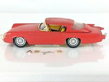 Vintage 1957 Ford Thunderbird AMT 1/25 Scale Screw Bottom Plastic Model