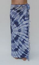 NEW UNISEX BLUE TIE DYE SARONG PAREO BEACH POOL THROW FULL LENGTH COVER / sa296
