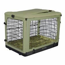 """The Other Door Steel Crate w/ Plush Pad Pad For Cats And Dogs 36""""-Sage PG5936BSG"""