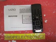 VIZIO M650VSE TV REMOTE CONTROL AND MANUAL