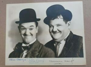 LAUREL AND HARDY Original autograph signed 8 x 10 photo with mailing envelope