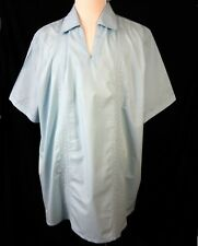 Guayabera 2XLT Mens Shirt Cotton Blue Embroidered Vertical Stripes KS Island