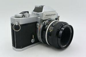 Nikon Chromé Nikkormat Nikomat FT2 Manuel Focus Mf SLR Caméra + Optionnel