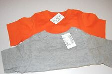 NWT Lot of 2 The Children's Place SS TShirts 6-9 months Grey and Orange