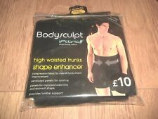 MENS BODYSCULPT HIGH WAISTED TRUNKS SHAPE ENHANCER WITH LUMBAR SUPPORT PANTS M/L