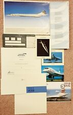 British Airways Concorde Boarding pass, A4 print, flight certificate, cover etc.