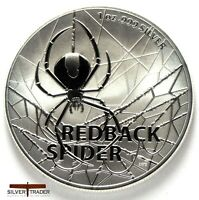 DEADLY & DANGEROUS 2020 (TUVALU) RED BACK SPIDER 1 OZ SILVER COIN