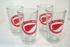 Set of Four Red Wing Brewery Beer Glasses, Red Wing Minnesota