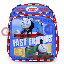"""Thomas Tank Engine  Friends Toddler Backpack 10"""" Small School Bag -Fast Friends"""