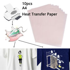 10Pcs A4 Heat Transfer Paper for DIY T-Shirt Cloth Fabric Painting Iron-On Paper