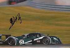 MARK brundell mano firmato TEAM BENTLEY SPEED 8 12x8 FOTO Le Mans 2003 1.