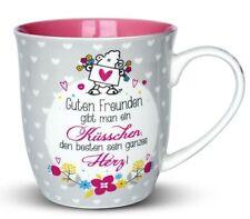 Sheepworld Tasse XXL Küsschen Herz 600 ml Kaffeetasse Jumbotasse Valentinstag