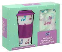 RSPCA Reusable Dog Eco Friendly Travel Mug and Shopper Bag Gift Set On The Go