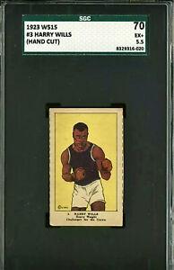 1923 W515 HARRY WILLS *HOF* BOXER (POP 1) SGC 5.5 HIGHEST GRADE SGC PSA **RARE**