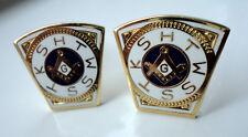 ZP30b Masonic Cufflinks Geometry Square Compass Freemason Royal Arch Mason Mark