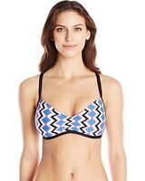 Splendid Solid Banded Bikini Bottom Navy Sz L Swimwear K12