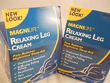 Magnilife (relaxing) Restless Legs Cream 4 oz each ( 2pkS) fresh & new
