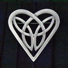 Pewter Celtic Heart Trinity Pin