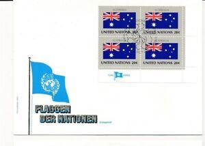 D112798 Flag Series Australia FDC United Nations New York Bureau