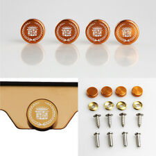 Laser Etched Rose Gold Aluminum Cadillac License Plate Frame Fastener Screw Cap