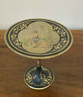 Victorian Hand-Painted Brass Tazza Card Receiver
